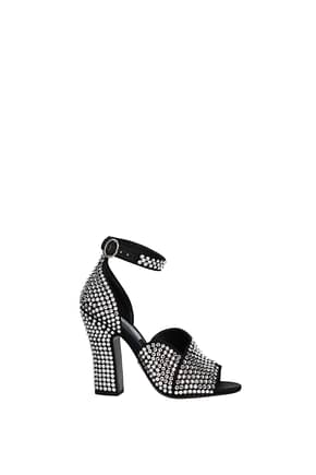 Prada Sandals Women Rhinestone Black