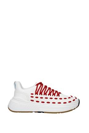 Bottega Veneta Sneakers Men Leather White Red