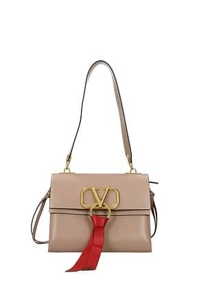 Valentino Garavani Shoulder bags Women Leather Pink Dahlia