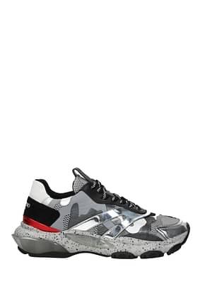 Valentino Garavani Sneakers Uomo Pelle Argento