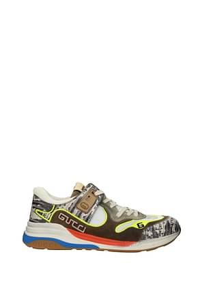 Gucci Sneakers Men Fabric  Brown