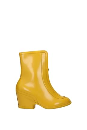 Gucci Ankle boots Women Rubber Yellow