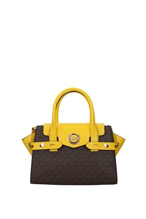 Michael Kors Handbags carmen sm Women Fabric  Brown Sunflower