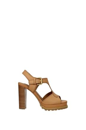 See by Chloé Sandals Women Leather Brown