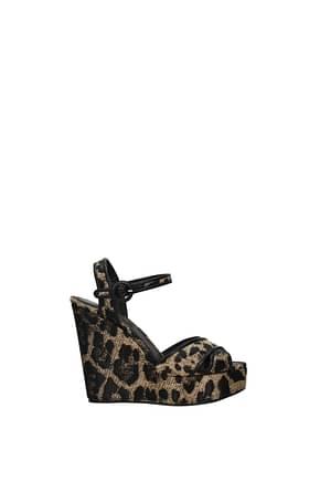 Dolce&Gabbana Zeppe Donna Tessuto Beige