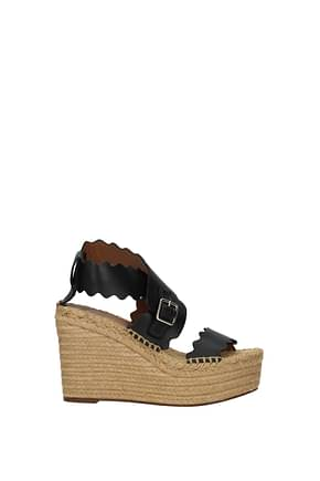 Chloé Wedges Women Leather Black