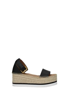 See by Chloé Sandals Women Leather Black