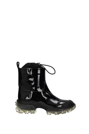 Moncler Ankle boots halma Women Patent Leather Black