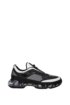 Prada Sneakers Men Rubber Black White