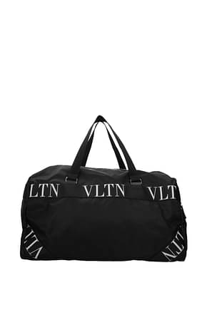 Valentino Garavani Travel Bags Men Fabric  Black