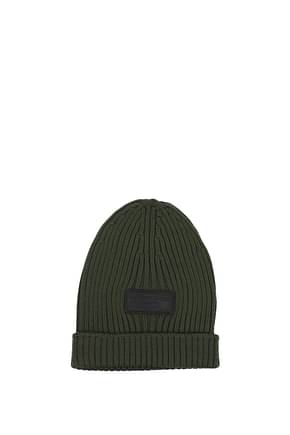 Prada Hats Men Virgin Wool Green Olive