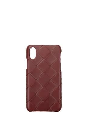 Bottega Veneta Porta iPhone iphone xs Uomo Pelle Rosso