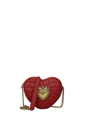 Dolce&Gabbana Crossbody Bag devotion Women Leather Red