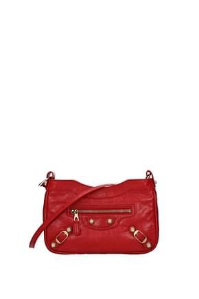 Balenciaga Crossbody Bag Women Leather Red