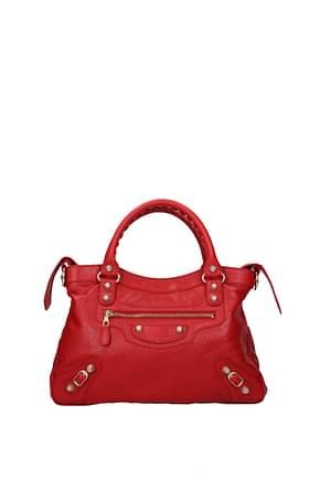 Balenciaga Handbags Women Leather Red