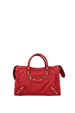 Balenciaga Handbags city Women Leather Red