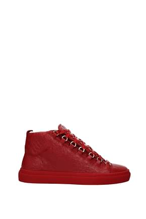 Balenciaga Sneakers Homme Cuir Rouge