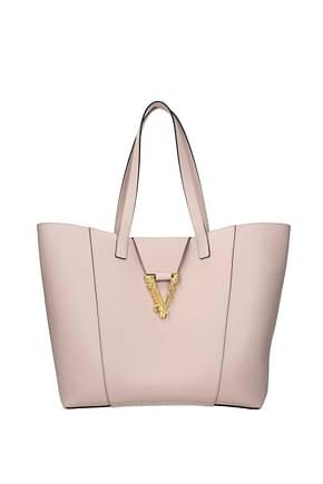 Versace Schultertaschen virtus Damen Leder Rosa