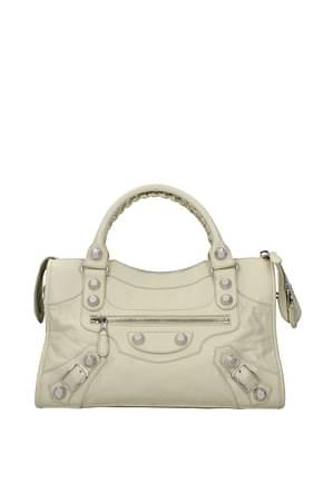 Balenciaga Handbags Women Leather Beige