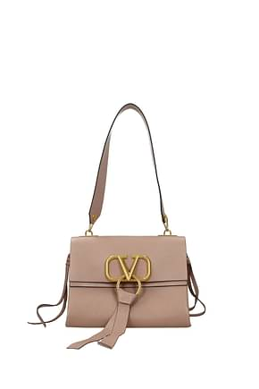 Valentino Garavani Shoulder bags Women Leather Pink