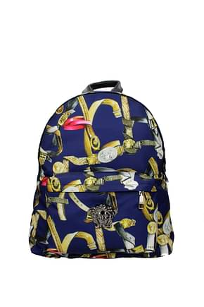 Versace Backpack and bumbags Men Fabric  Blue