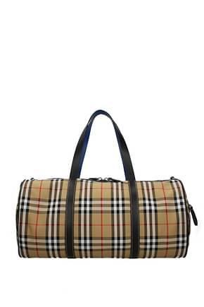 Burberry Travel Bags Men Fabric  Beige
