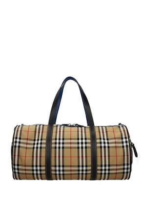 Burberry Travel Bags Men Fabric  Beige
