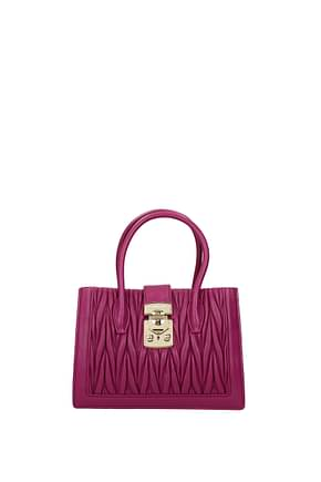Miu Miu Handbags Women Leather Violet