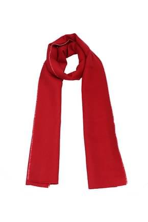 Balenciaga Scarves Women Wool Red
