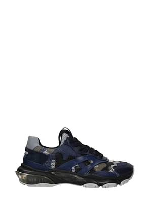 Valentino Garavani Sneakers Homme Tissu Bleu Bleu