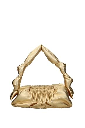 Miu Miu Shoulder bags Women Leather Gold