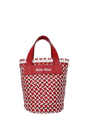 Miu Miu Handbags Women Polyurethane Red
