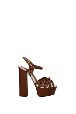 Dolce&Gabbana Sandals Women Leather Brown