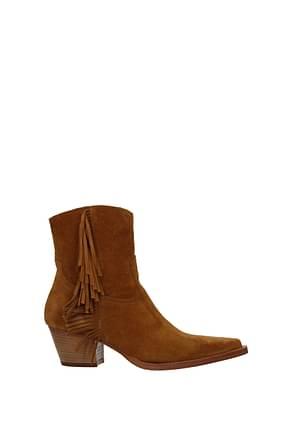 Pinko Ankle boots zenzero Women Suede Brown