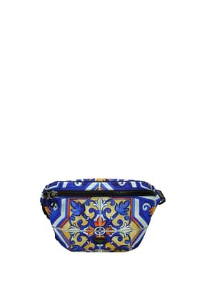 Dolce&Gabbana Backpack and bumbags Men Fabric  Blue