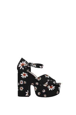 Miu Miu Sandals Women Fabric  Black
