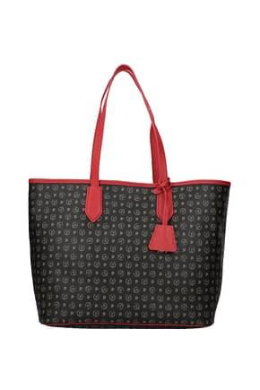 Pollini Shoulder bags Women PVC Black Brick Red