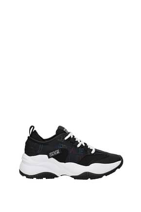 Versace Jeans Sneakers couture Femme Tissu Noir
