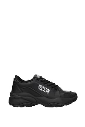 Versace Jeans Sneakers couture Homme Cuir Noir
