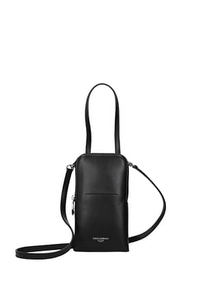 Dolce&Gabbana Handbags Men Leather Black