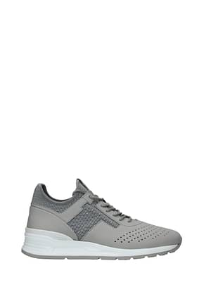 Tod's Sneakers Men Leather Gray