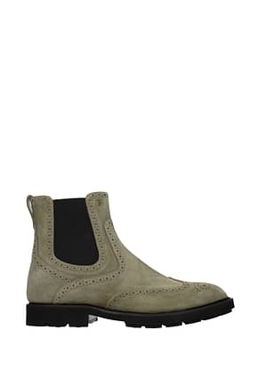 Tod's Ankle Boot Men Suede Green