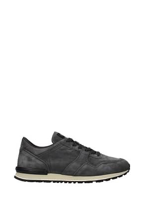 Tod's Sneakers Men Suede Gray