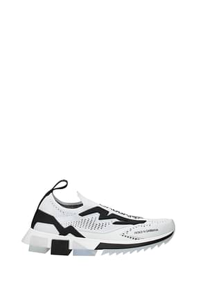 Dolce&Gabbana Sneakers Men Fabric  White Black