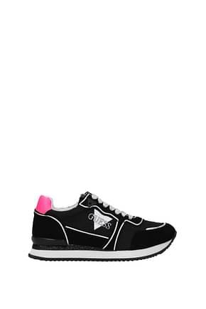 Guess Sneakers Donna Camoscio Nero