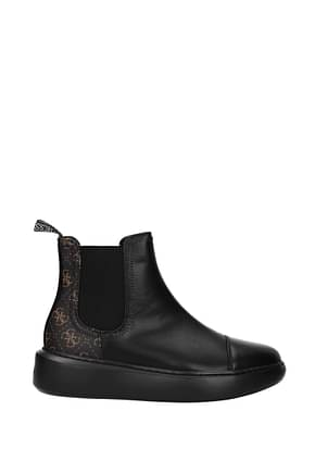 Guess Ankle boots Women Polyurethane Black