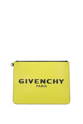 Givenchy Clutches Men Leather Yellow