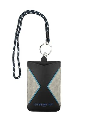 Givenchy Selfphone Cover Men Cotton Gray Black
