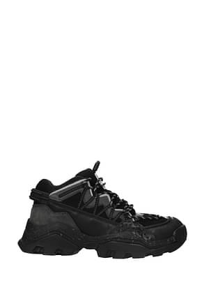 Kenzo Sneakers Men Fabric  Black