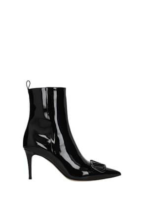 Valentino Garavani Ankle boots vlogo Women Patent Leather Black
